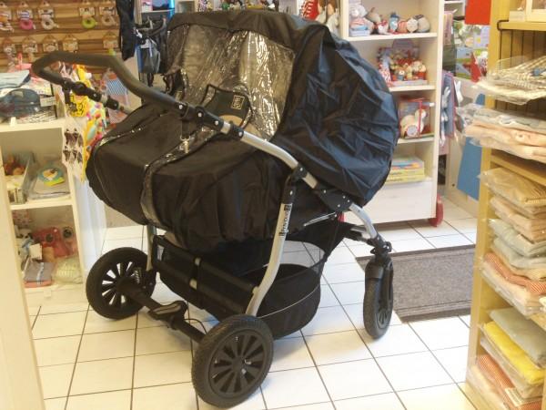 Regenverdeck Nylon XXL für Zwillings-Kinderwagen