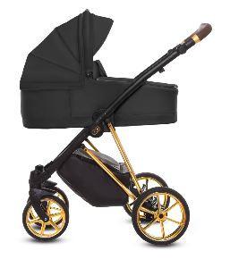 """Babyactive Kinderwagen """"Musse Ultra"""" schwarz/gold"""