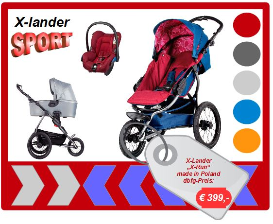 x lander buggy jogger d nische kinderwagen jedo trille basson baby kronan bei my. Black Bedroom Furniture Sets. Home Design Ideas