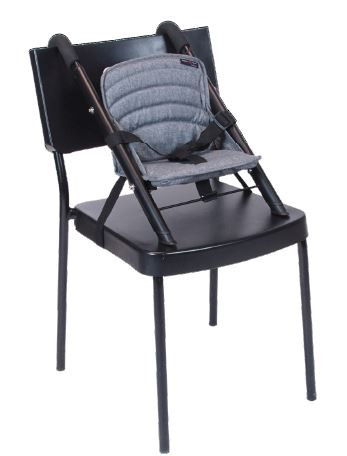 stol pa stol schwarz / grau-melange